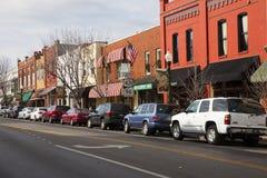 Historisch Main Street Royalty-vrije Stock Foto's