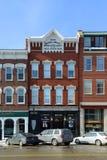 Historisch Main Street, Verdrag, NH, de V.S. Stock Foto's