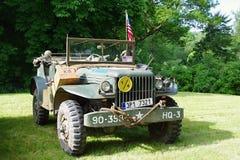 Historisch militair voertuig 1945 royalty-vrije stock foto's