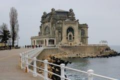 Historisch monument op de kust van de Zwarte Zee Stock Foto