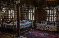 Historisch Museum in Doubai Traditionele Arabische Dhow doubai royalty-vrije stock foto