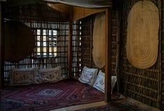 Historisch Museum in Doubai Uitstekend binnenland van het huis doubai De zomer van 2016 stock afbeelding