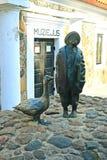 Historisch museum in Kupiskis-stad op de lentetijd stock foto