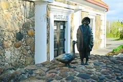 Historisch museum in Kupiskis-stad op de lentetijd Royalty-vrije Stock Fotografie