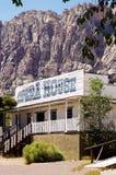 Historisch Operahuis, Bonnie Springs, het Rode Gebied van het Rotsbehoud, Nevada stock fotografie