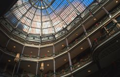 Historisch Oud Arcade Glass Skylight, Cleveland, OH royalty-vrije stock afbeelding