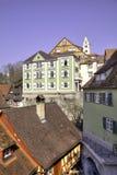 Historisch oude stad van Meersburg Stock Foto's