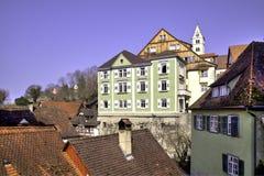 Historisch oude stad van Meersburg Stock Afbeeldingen