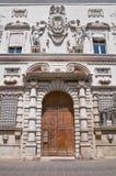 Historisch paleis van Ferrara. Stock Foto's