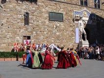 Historisch Paradeflorence Royalty-vrije Stock Foto's