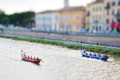 Historisch regatta miniatuurkampioenschap Stock Foto