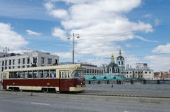 Historisch Retro Tramspoor royalty-vrije stock foto's