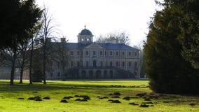 Historisch, Schloss Liebling mit Förch, in der Öffentlichkeit, frei zugänglicher Park, Rastatt im Schwarzwald lizenzfreie stockfotografie