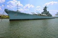 Historisch Slagschip USS New Jersey in Camden Stock Afbeelding