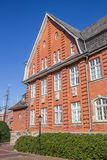 Historisch stadhuis in het centrum van Papenburg Stock Afbeelding