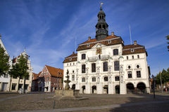 Historisch stadhuis, Lueneburg Royalty-vrije Stock Fotografie