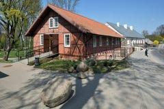 Historisch stadscentrum, Kretinga stock fotografie