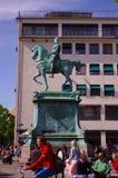 Historisch standbeeld van een beroemde heerser van Zweden Stock Afbeelding