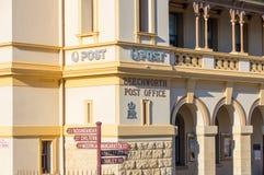 Historisch steenpostkantoor in Beechworth in Victoria, Australië royalty-vrije stock foto's