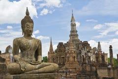 Historisch Sukothai Park, Wat Mahathat, Thailand Royalty-vrije Stock Foto
