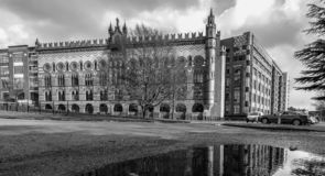 Historisch Templeton Carpet Factory Building van Glasgow in Glasgow royalty-vrije stock foto's