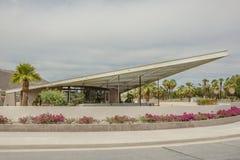 Historisch Tramspoorbenzinestation in Palm Springs royalty-vrije stock afbeeldingen