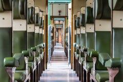 Historisch treinvervoer binnen mening Royalty-vrije Stock Afbeelding