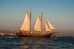 Historisch varend schip in Adriatic Stock Afbeeldingen