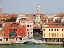 Historisch Venetië bij het overzees Stock Fotografie