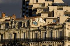 Historisch versus Modern Montpellier, Frankrijk Stock Foto