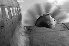 Historisch Vliegtuig klaar voor Start stock foto's