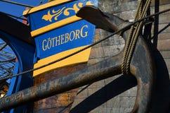 Historisch zeilschip Gotheborg Royalty-vrije Stock Afbeeldingen