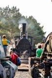 Historische österreichische Dampflokomotive stockbilder