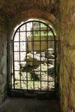 Historische abdijruïnes - poort Royalty-vrije Stock Foto's