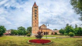 Historische Abtei von Pomposa und von berühmtem Kloster, Codigoro, Emilia-Romagna, Italien Stockfotos