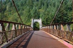 Historische Alexandra Bridge Fraser River stock afbeeldingen