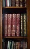 Historische alte Bücher in der Bibliothek Lizenzfreies Stockbild