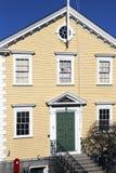 Historische alte Stadt Hall House, konstruiert 1727, Marblehead, Massachusetts, USA stockbilder