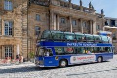 Historische alte Stadt von Bayreuth - Stadtrundfahrt Lizenzfreies Stockbild