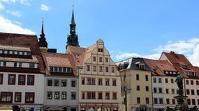 Historische alte Stadt von Freiberg lokal und barocke Art Stockfoto