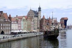 Historische alte Stadt von Gdansk in Polen Lizenzfreies Stockbild