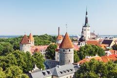 Historische alte Stadt von Tallinn Stockfotos