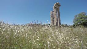 Historische Apollo Tempelruinen Rhodos in der Akropolise, Rhodos, Griechenland Zeit-Versehen 4K stock video
