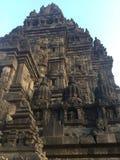 Historische architectuur Hindoese Tempel Historisch Indonesië Gesneden steen stock fotografie
