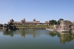 Historische architectuur, jahaz mahal, mandav madhya pradesh, India Stock Foto's