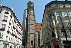 Historische Architectuur in München Stock Afbeeldingen