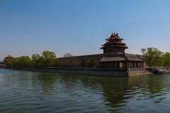 Historische architectuur van Peking Stock Foto's