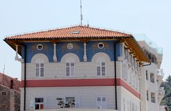 Historische architectuur van Piran, Slovenië royalty-vrije stock afbeelding