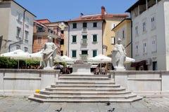 Historische architectuur van Piran, Slovenië Royalty-vrije Stock Fotografie