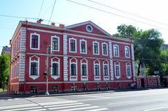Historische architectuur van St. Petersburg stock foto's